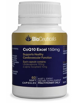 BioCeuticals CoQ10 Excel 150mg 60 Capsules | Vitality And Wellness centre
