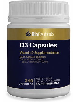 BioCeuticals D3 Capsules 240 Capsules | Vitality And Wellness Centre