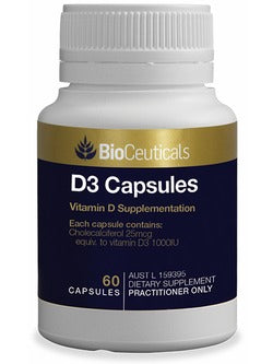 BioCeuticals D3 Capsules 60 Capsules | Vitality And Wellness Centre