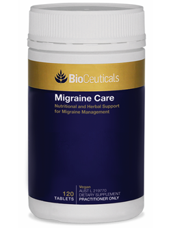BioCeuticals Migraine Care 120 Tablets | Vitality And Wellness Centre