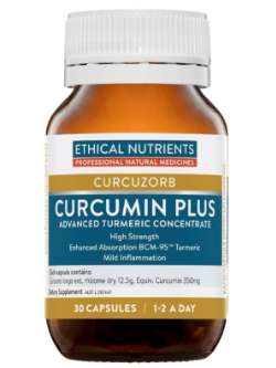 Ethical Nutrients Curcumin Plus 30 Capsules | Vitality and Wellness Centre