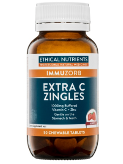 Ethical Nutrients Extra C Zingles Berry 50 Tablets | Vitality and Wellness Centre