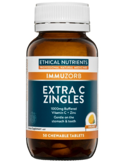 Ethical Nutrients Extra C Zingles Orange 50 Tablets | Vitality and Wellness Centre