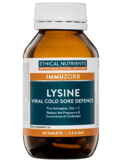 Ethical Nutrients Lysine Viral Cold Sore Defence 60 Tablets | Vitality and Wellness Centre