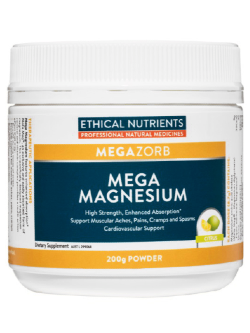 Ethical Nutrients Mega Magnesium Citrus 200g Powder | Vitality and Wellness Centre