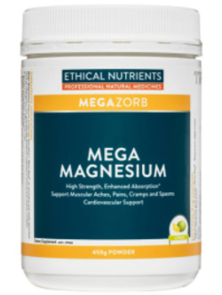 Ethical Nutrients Mega Magnesium Citrus 450g Powder | Vitality and Wellness Centre