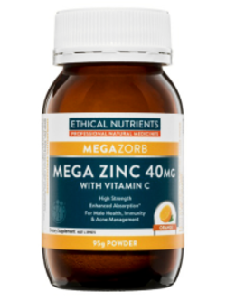 Ethical Nutrients Mega Zinc Orange 95g Powder | Vitality and Wellness Centre