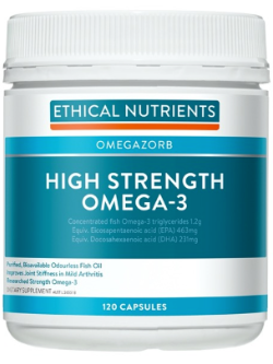 Ethical Nutrients OMEGAZORB High Strength Omega-3 120 Capsules | Vitality and Wellness Centre