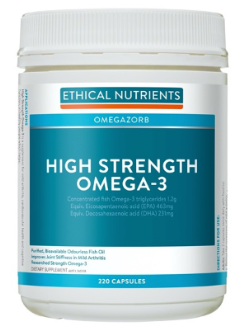 Ethical Nutrients OMEGAZORB High Strength Omega-3 220 Capsules | Vitality and Wellness Centre