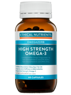 Ethical Nutrients OMEGAZORB High Strength Omega-3 60 Capsules | Vitality and Wellness Centre
