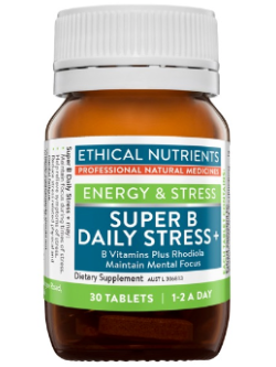 Ethical Nutrients Super B Daily Stress + 30 Tablets | Vitality and Wellness Centre