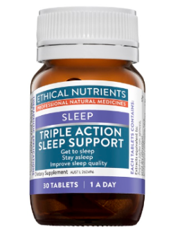 Ethical Nutrients Triple Action Sleep Support 30 Tablets | Vitality and Wellness Centre