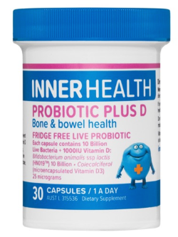 Inner Health Probiotic Plus D 30 Capsules | Vitality and Wellness Centre