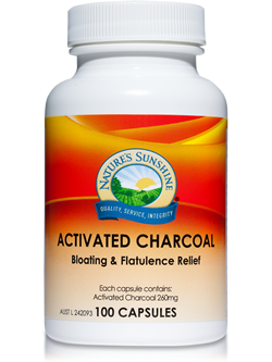 Nature's Sunshine Activated Charcoal 100 capsules | Vitality and Wellness centre