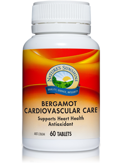 Nature's Sunshine Bergamot Cardiovascular Care 60 Tablets