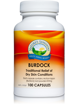 Nature's Sunshine Burdock 100 Capsules | Vitality And Wellness Centre