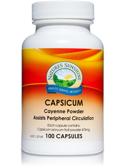 Nature's Sunshine Capsicum 100 Capsules | Vitality And Wellness Centre