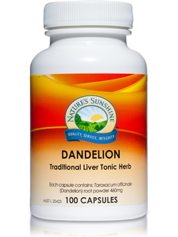 Nature's Sunshine Dandelion 100 Capsules | Vitality And Wellness Centre