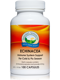 Nature's Sunshine Echinacea 100 Capsules | Vitality And Wellness Centre