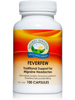 Nature's Sunshine Feverfew 100 Capsules | Vitality And Wellness Centre