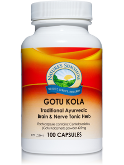 Nature's Sunshine Gotu Kola 100 Capsules | Vitality And Wellness Centre