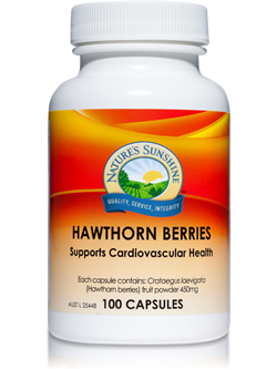 Nature's Sunshine Hawthorn Berries 100 Capsules
