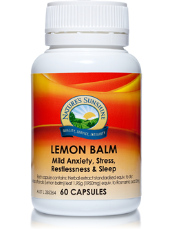 Nature's Sunshine Lemon Balm Capsules | Vitality And Wellness Centre