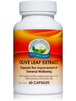 Nature's Sunshine Olive Leaf Extract 60 Capsules