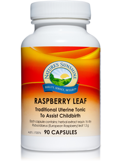 Nature's Sunshine Raspberry Leaf 90 Capsules | Vitality And Wellness Centre