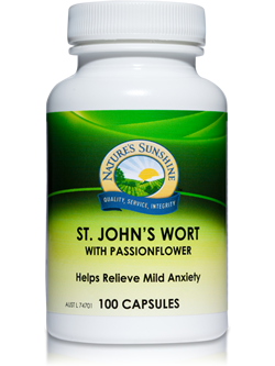 Nature's Sunshine St John's Wort with Passion Flower 100 Capsules