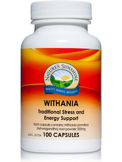 Nature's Sunshine Withania 100 Capsules | Vitality And Wellness Centre