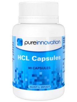 Pure Innovation HCL 90 Capsules | Vitality and Wellness