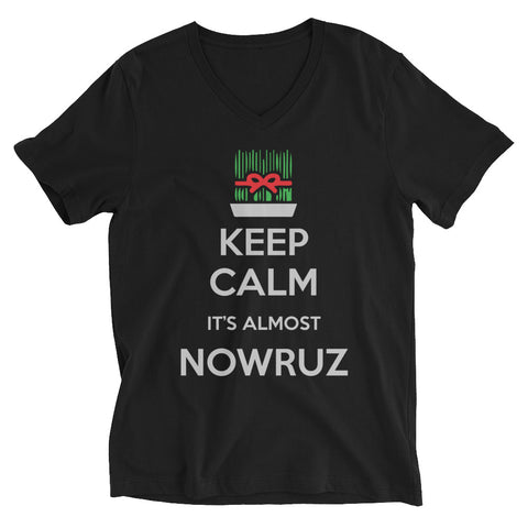 Keep Calm, It's Almost Nowruz Unise V-Neck T-Shirt