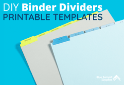 DIY Binder Dividers: Free Printable Templates