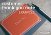 Customer Thank You Note Examples