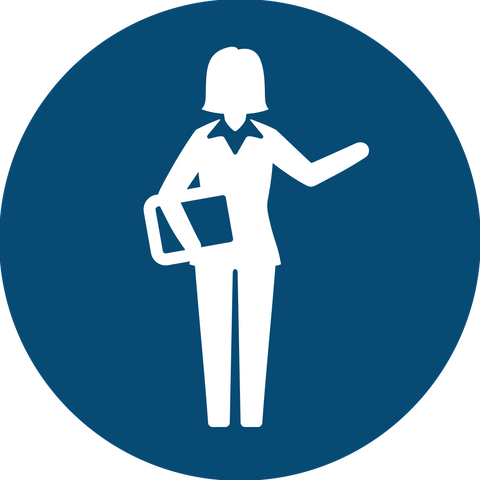Business Woman Standing Icon