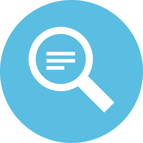 Magnifying Glass Information Icon