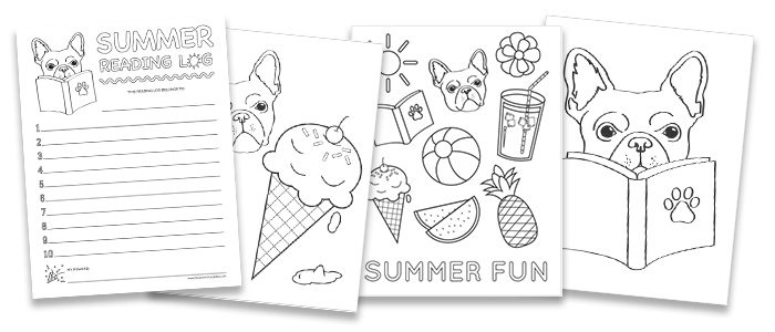 Free Summer Coloring Sheets