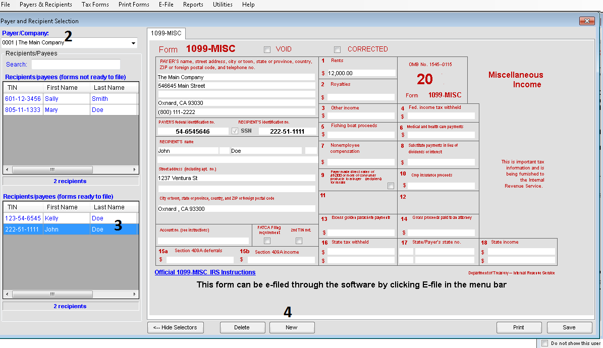 Creating Multiple Forms in TFP software
