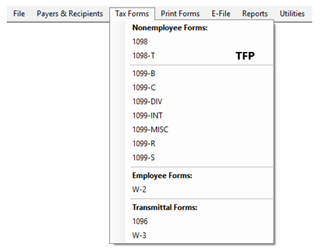 Editing a Form in TFP sofware