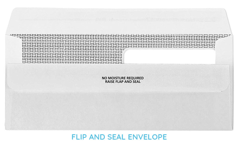 What is a flip and seal envelope?