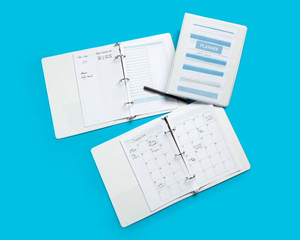 How to Create Your Own Planner with a Mini Binder - Blue