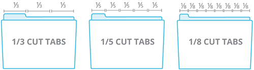 Folder Tab Sizes and Placement