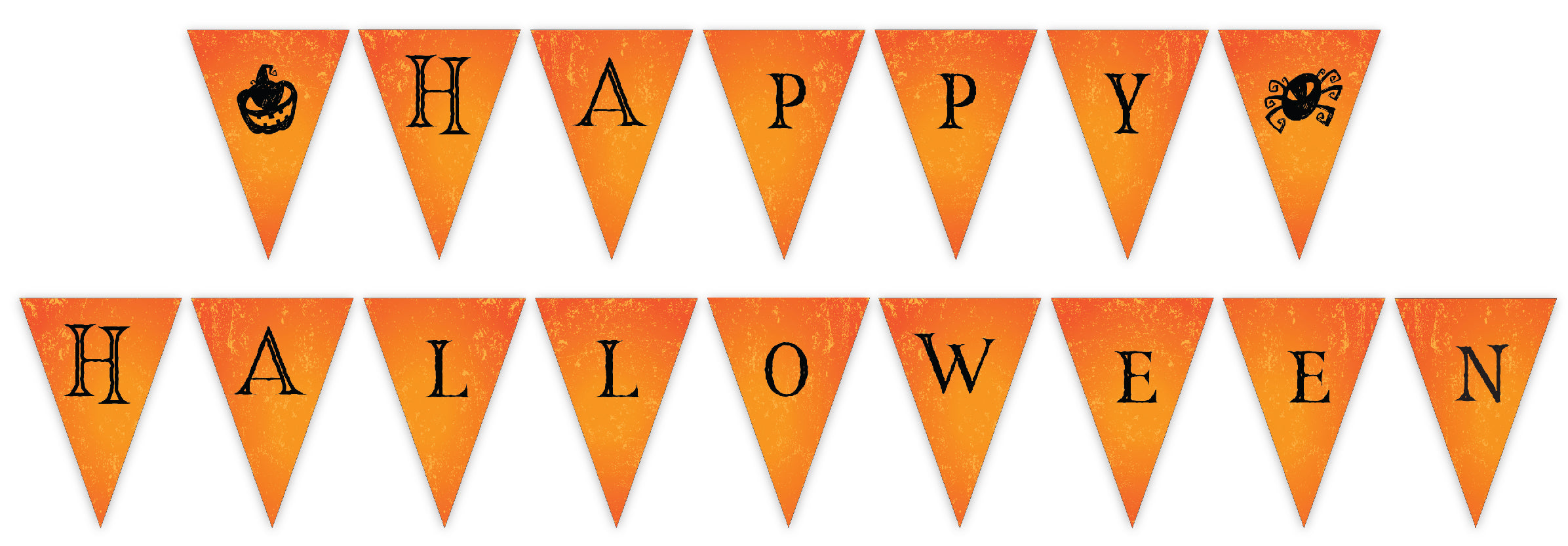 "Free printable ""Happy Halloween"" banner"