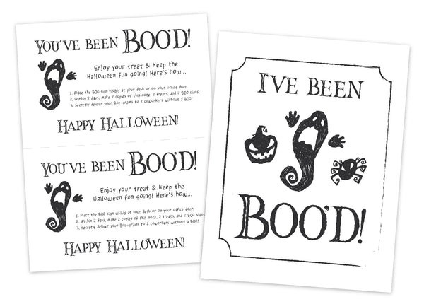 Boo Game Printables
