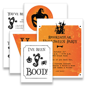 Free Halloween party printables for work
