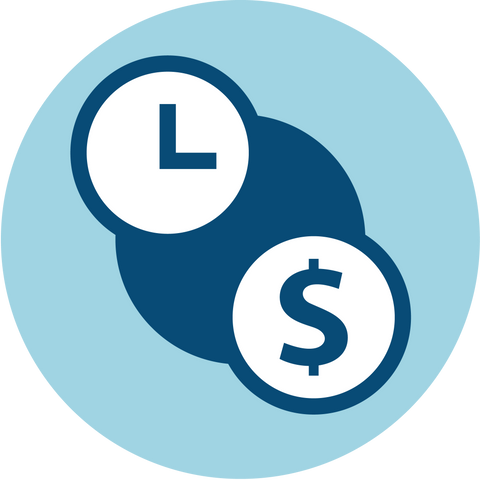Clock And Dollar Sign Icon