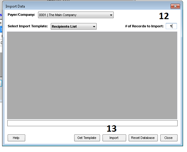Importing Recipient Data Using an Excel Template