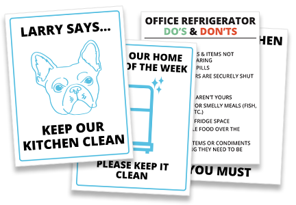 Free office kitchen signs