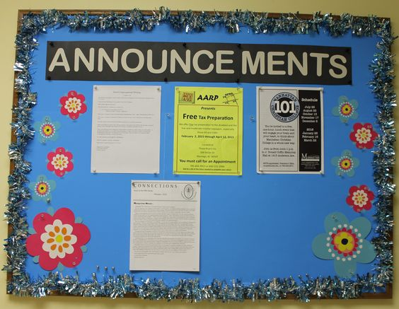 announcement board